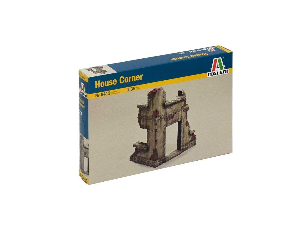 1865 model kit budova italeri 6413 house corner 1 35