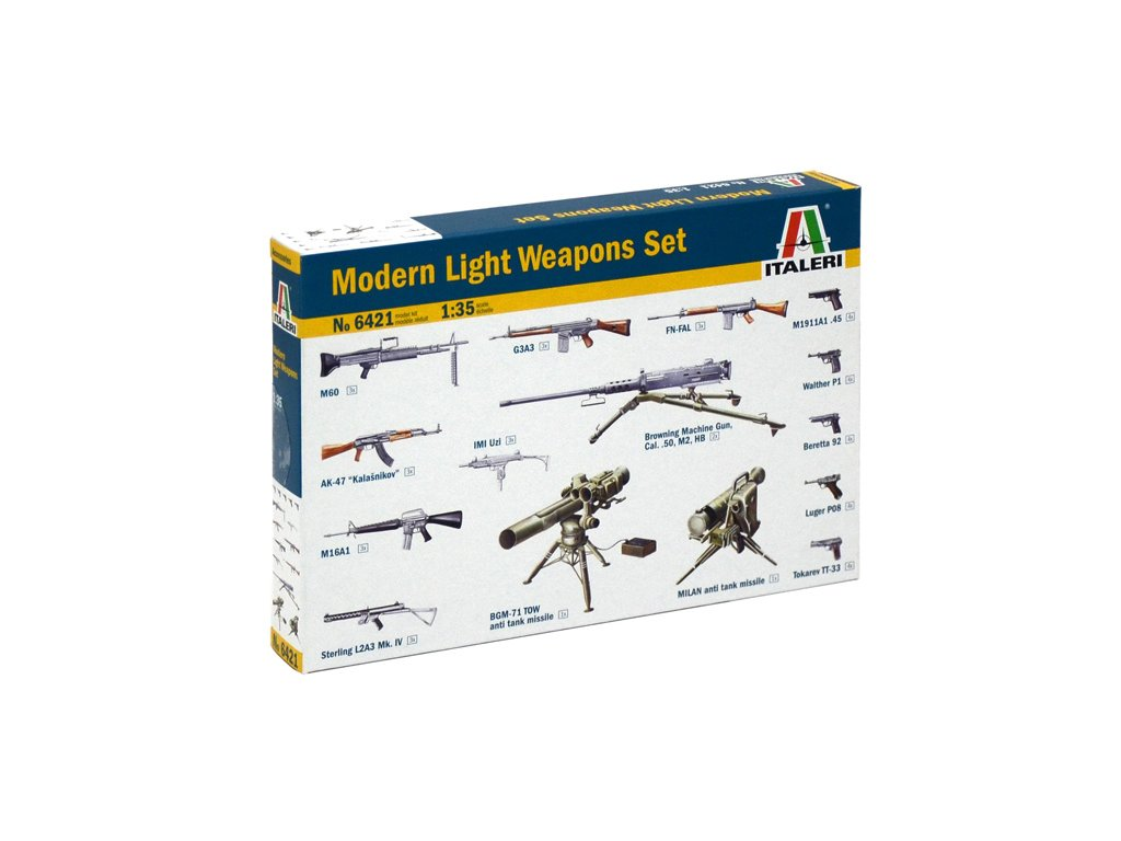 1868 model kit doplnky italeri 6421 modern light weapon set 1 35