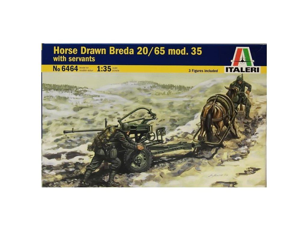 1880 model kit military italeri 6464 horse drawn breda 20 65 w servants 1 35