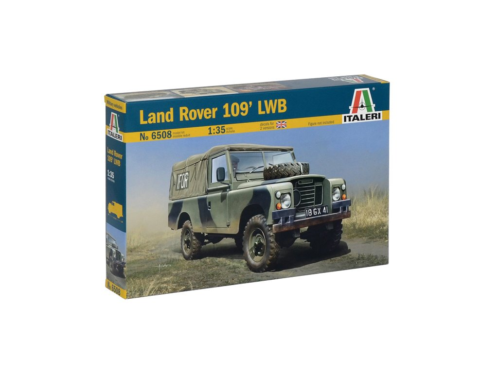 1886 model kit military italeri 6508 land rover 109 lwb 1 35