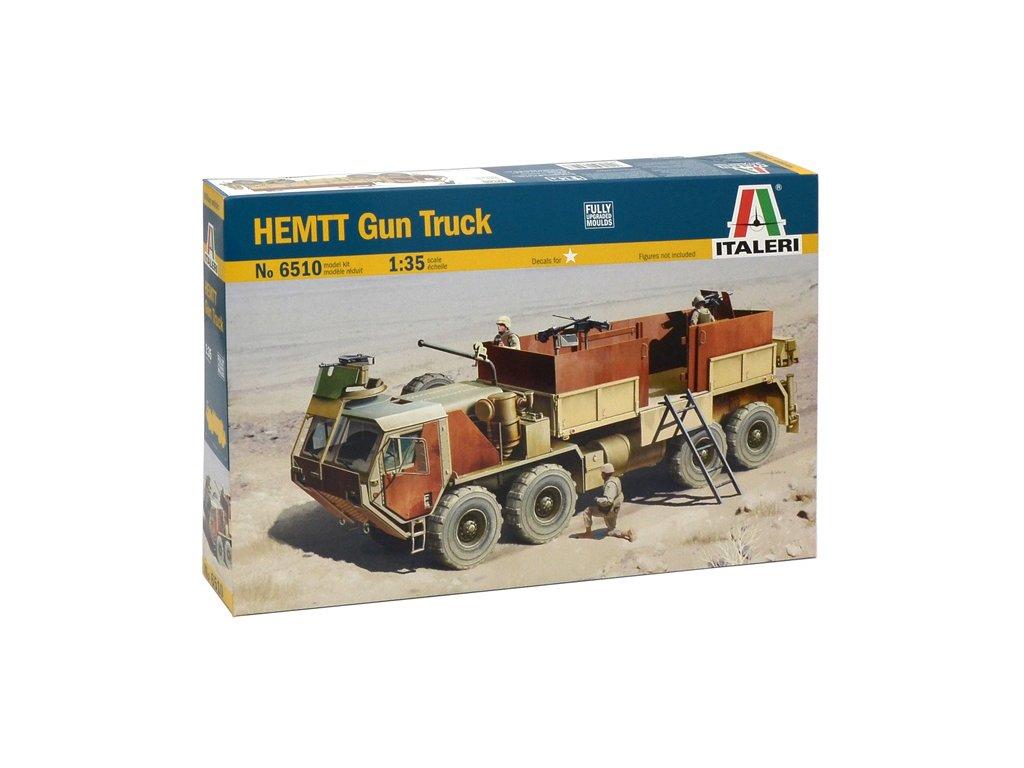 1889 model kit military italeri 6510 hemtt gun truck 1 35