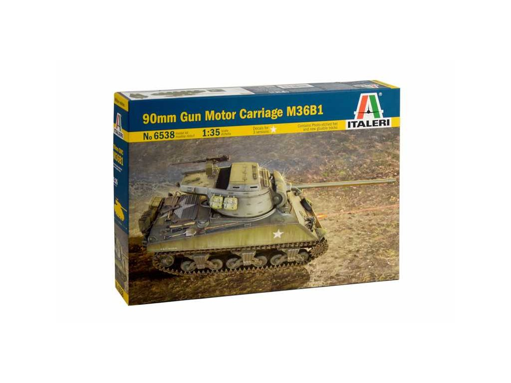 1925 model kit tank italeri 6538 90mm gun motor carriage m36b1 1 35