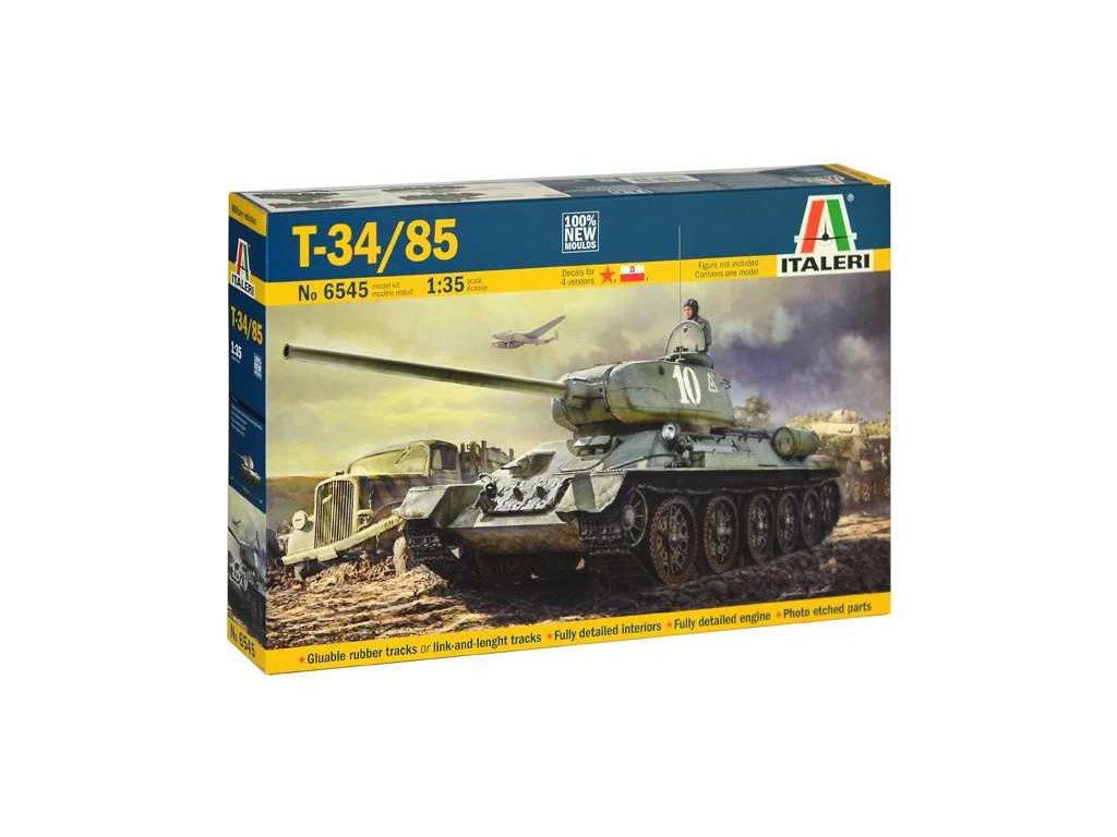 1931 model kit tank italeri 6545 t34 85 zavod 183 mod 1944 1 35