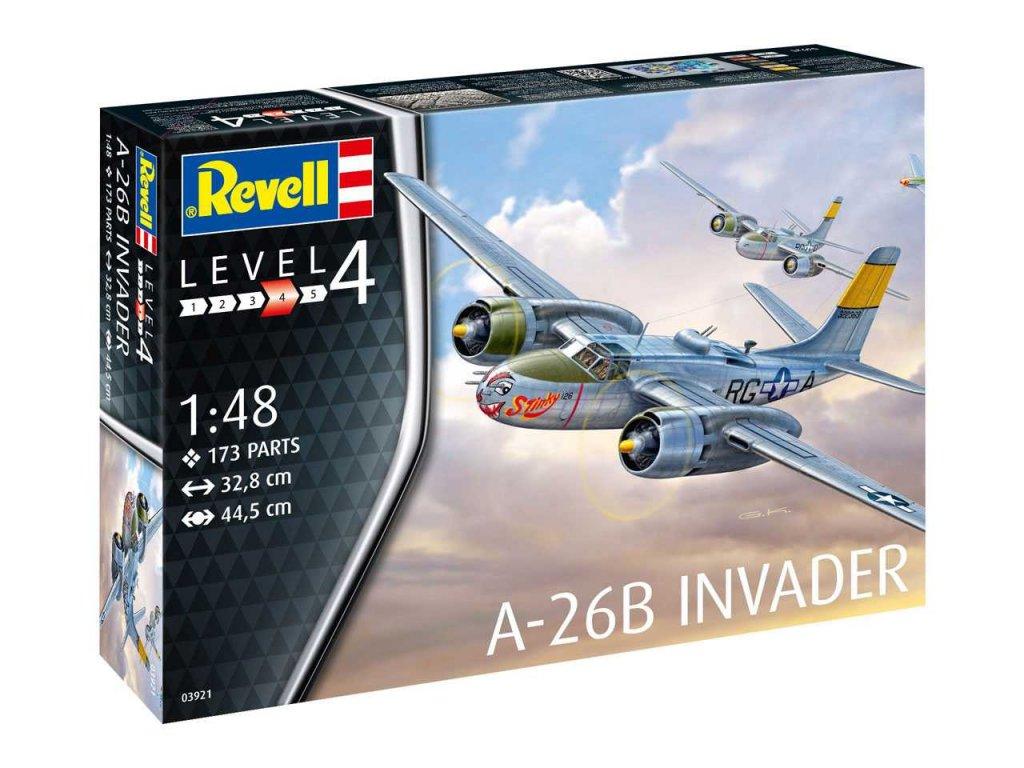 194 plastovy model lietadlo revell 03921 a 26b invader 1 48