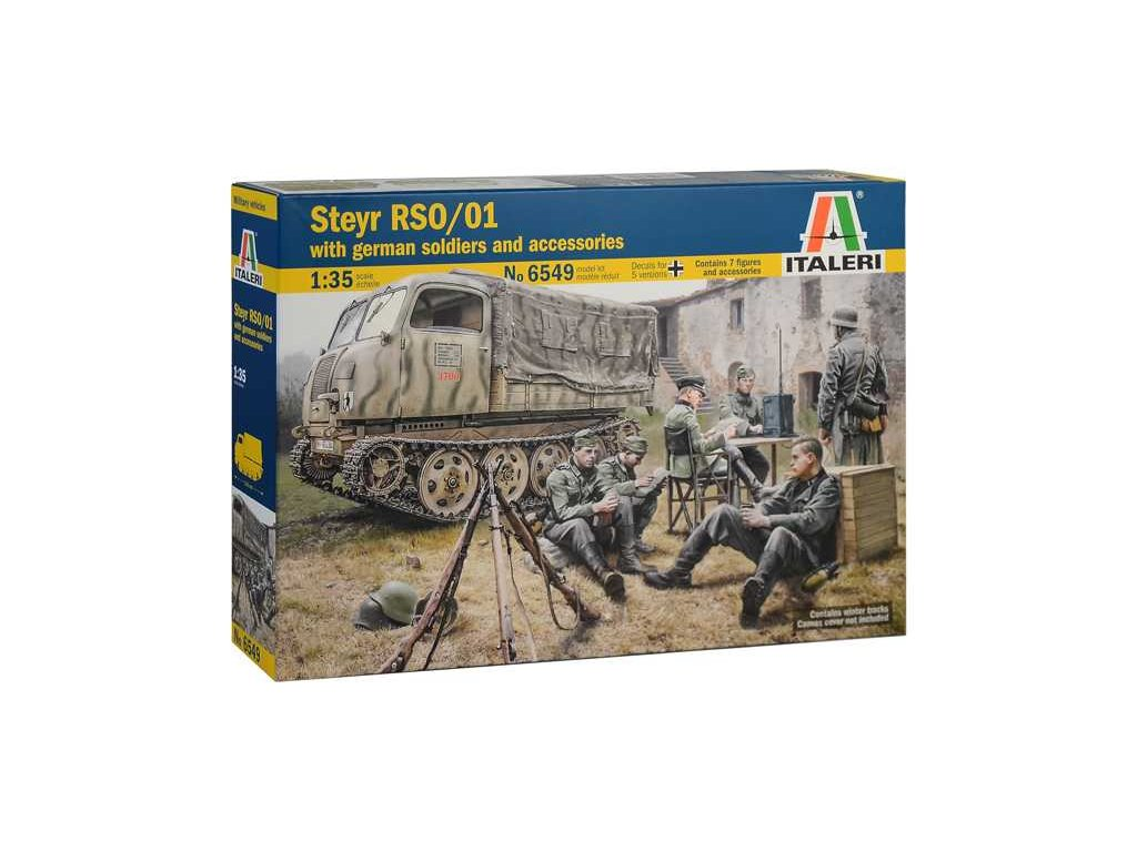 1943 model kit military italeri 6549 steyr rso 01 with german soldiers 1 35