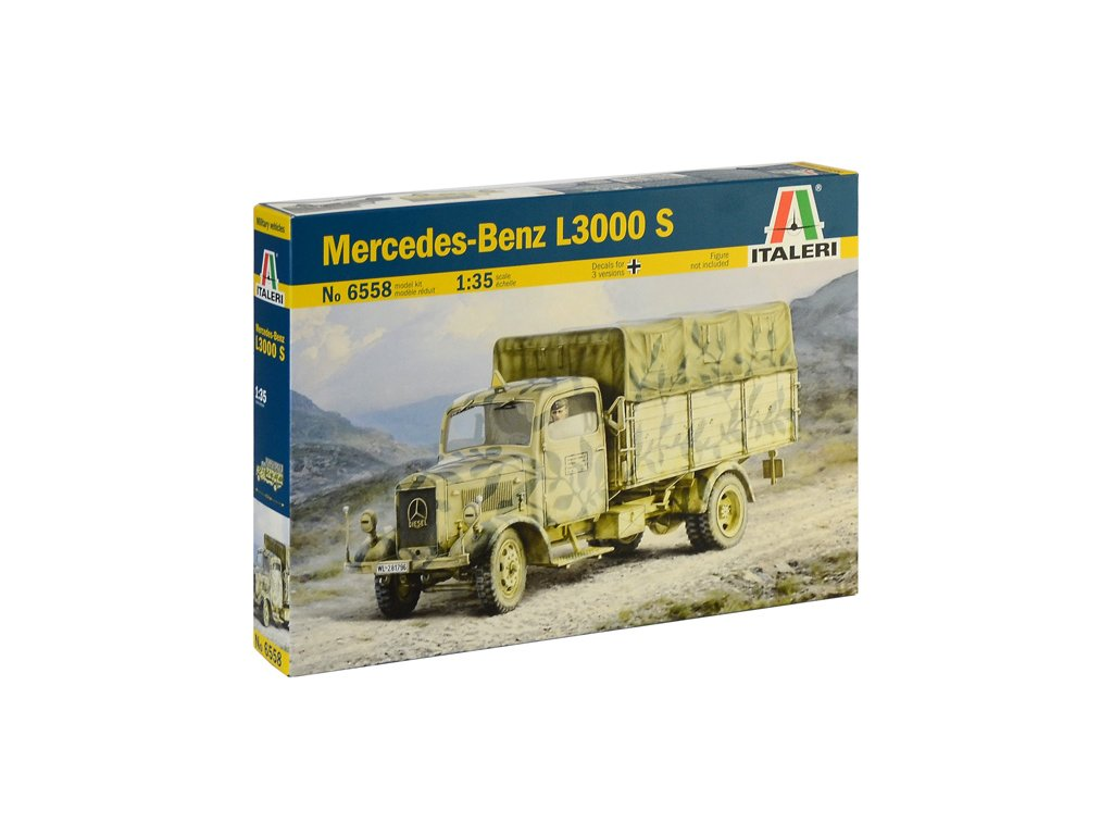 1961 model kit military italeri 6558 mercedes benz l3000 s 1 35