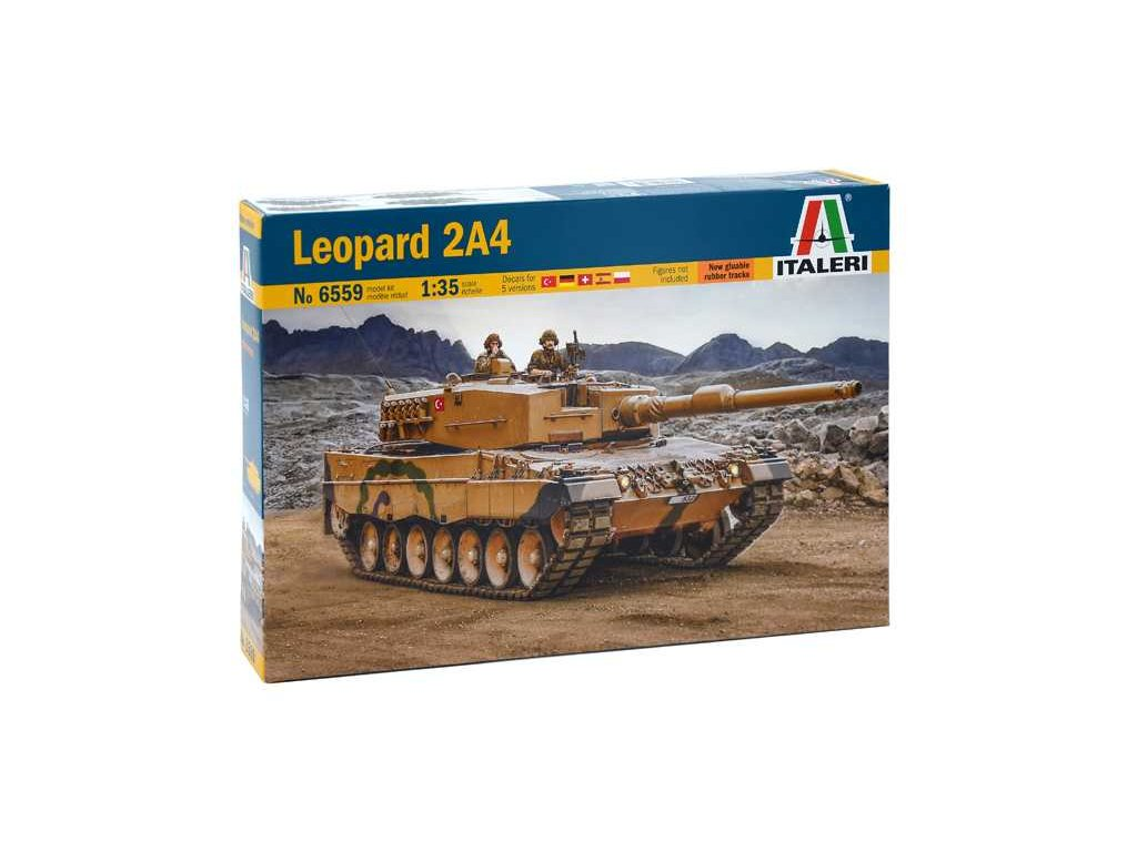 1964 model kit tank italeri 6559 leopard 2a4 1 35