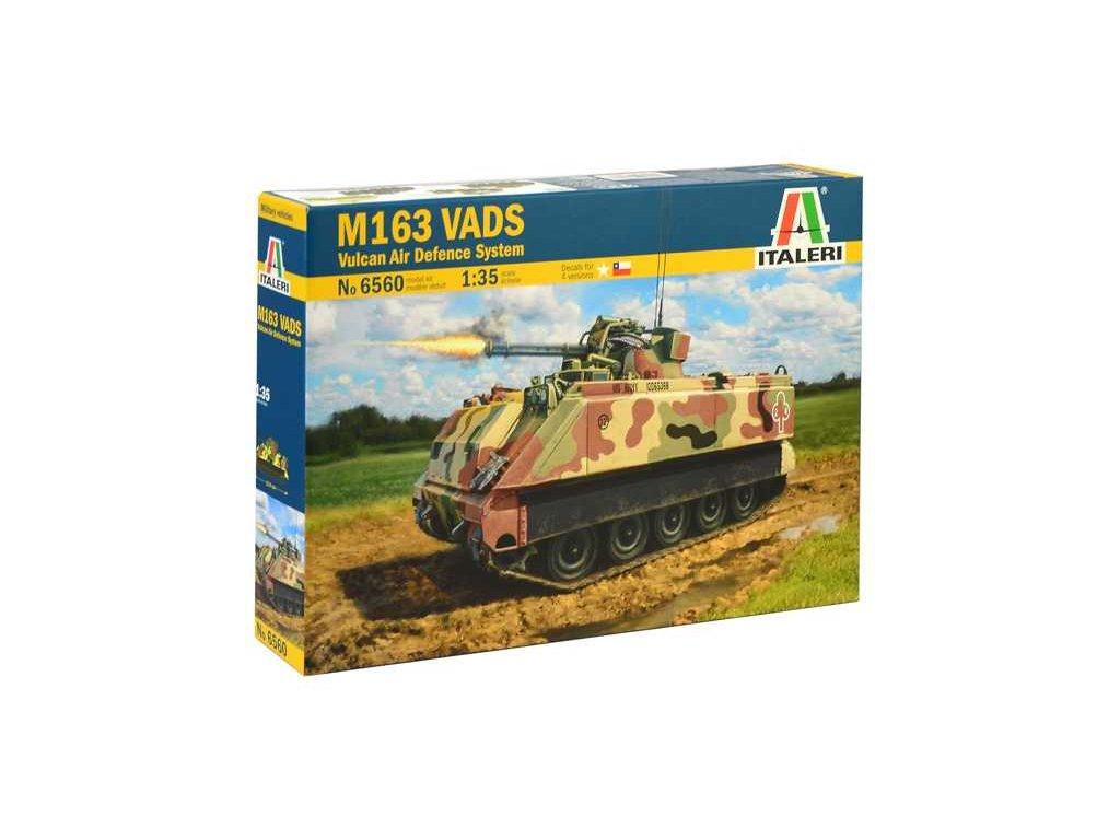 1967 model kit tank italeri 6560 m163 vads 1 35