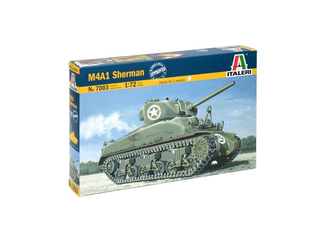 1979 model kit tank italeri 7003 m4 sherman 1 72