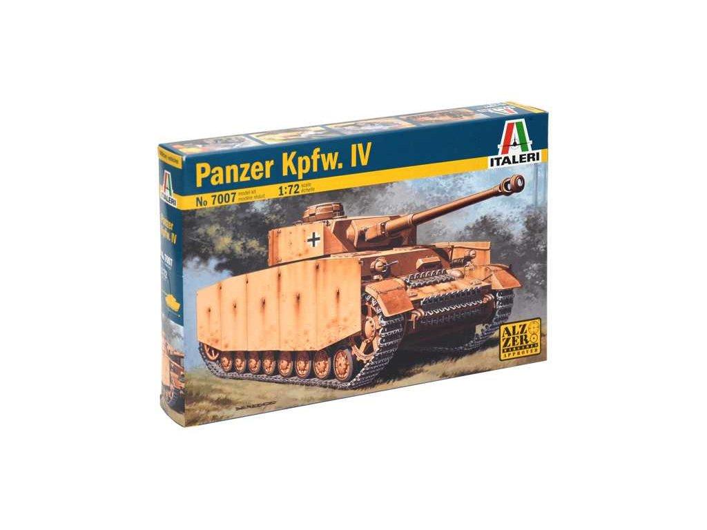 1982 model kit tank italeri 7007 pz kpfw iv 1 72