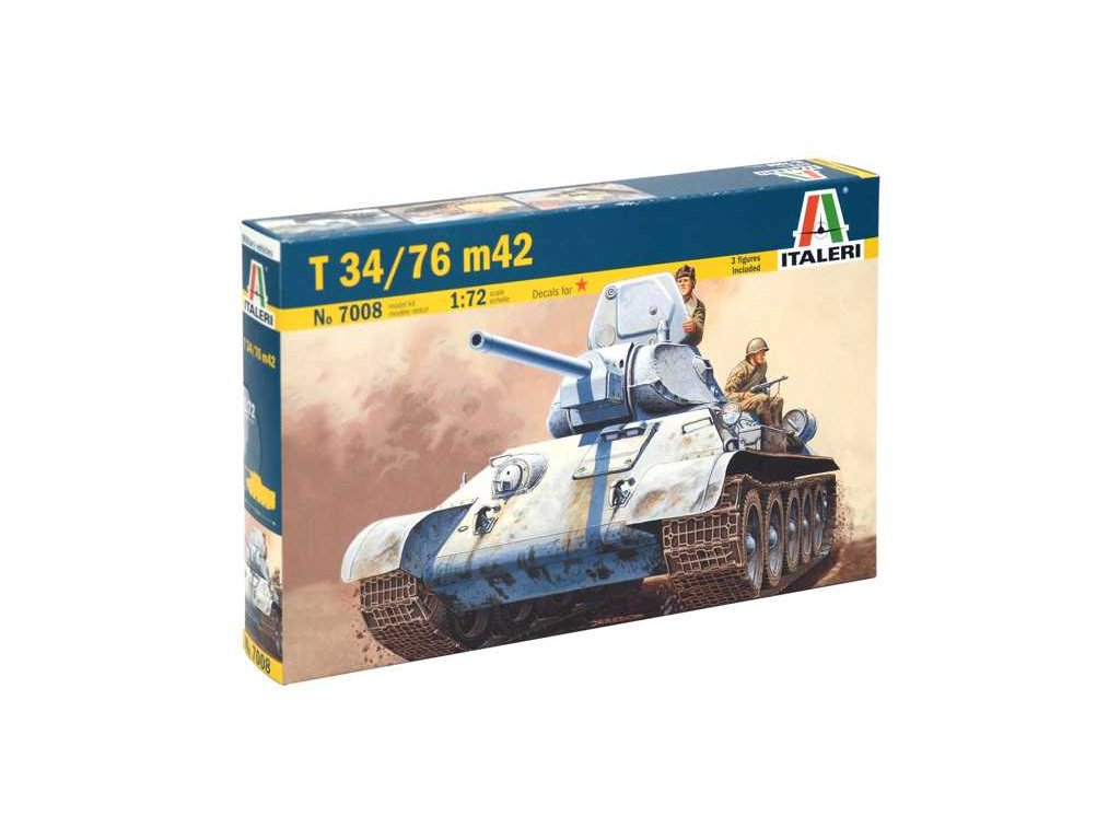 1985 model kit tank italeri 7008 t 34 76 m42 1 72