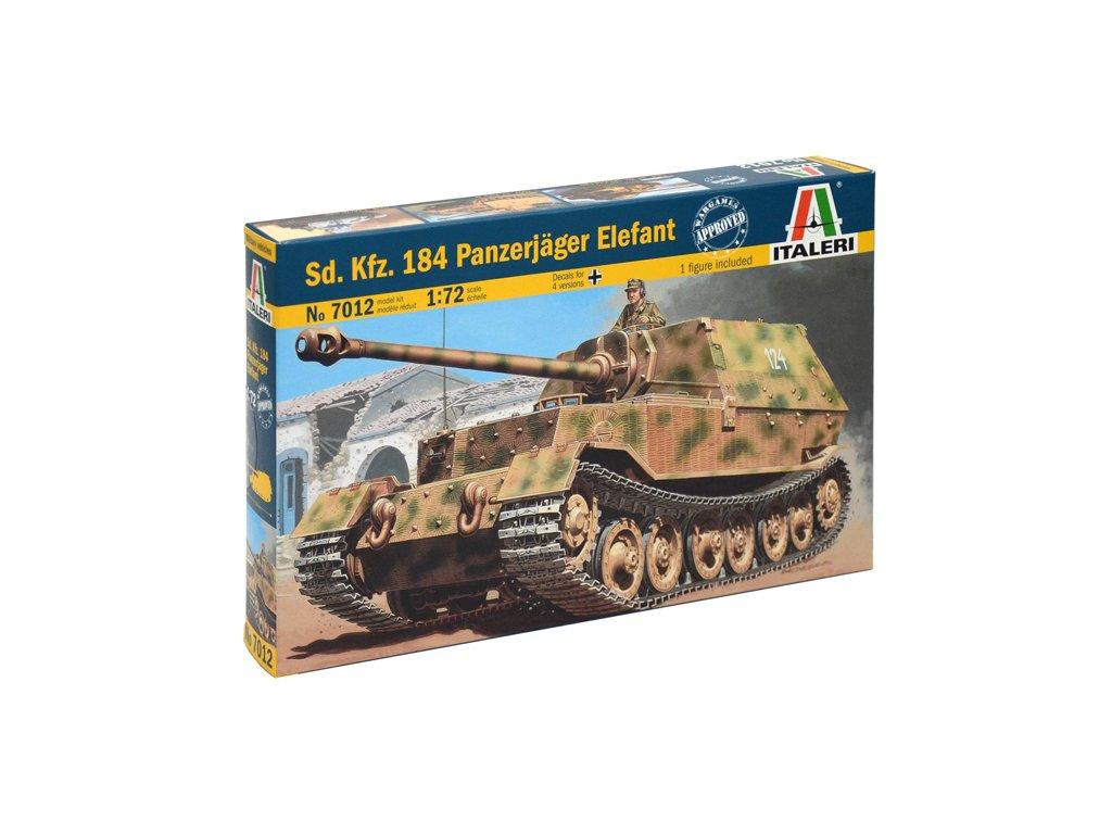 1988 model kit military italeri 7012 sd kfz 184 panzerjager elefant 1 72