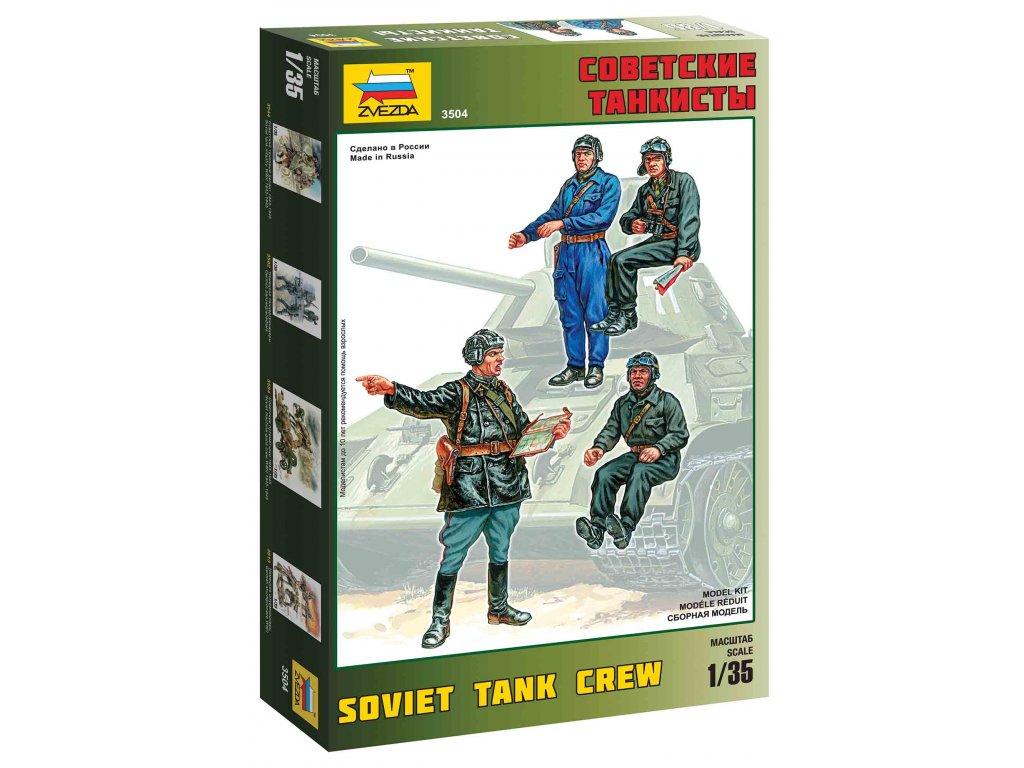 200 model kit figurky zvezda 3504 soviet tank crew 1 35