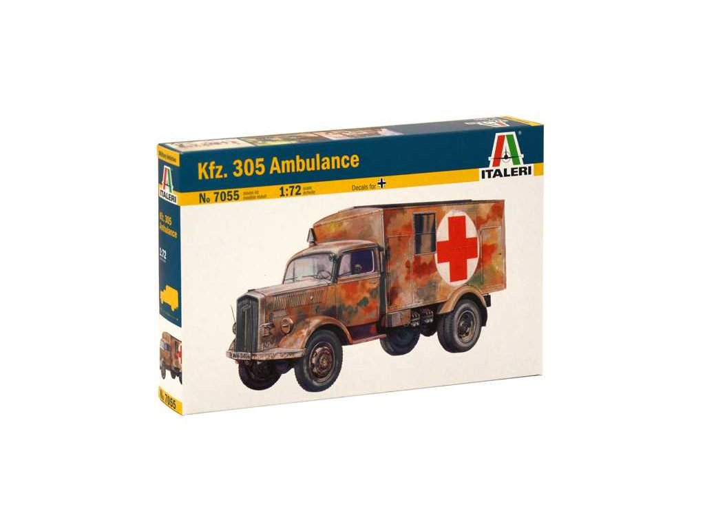 2000 model kit military italeri 7055 kfz 305 ambulance 1 72