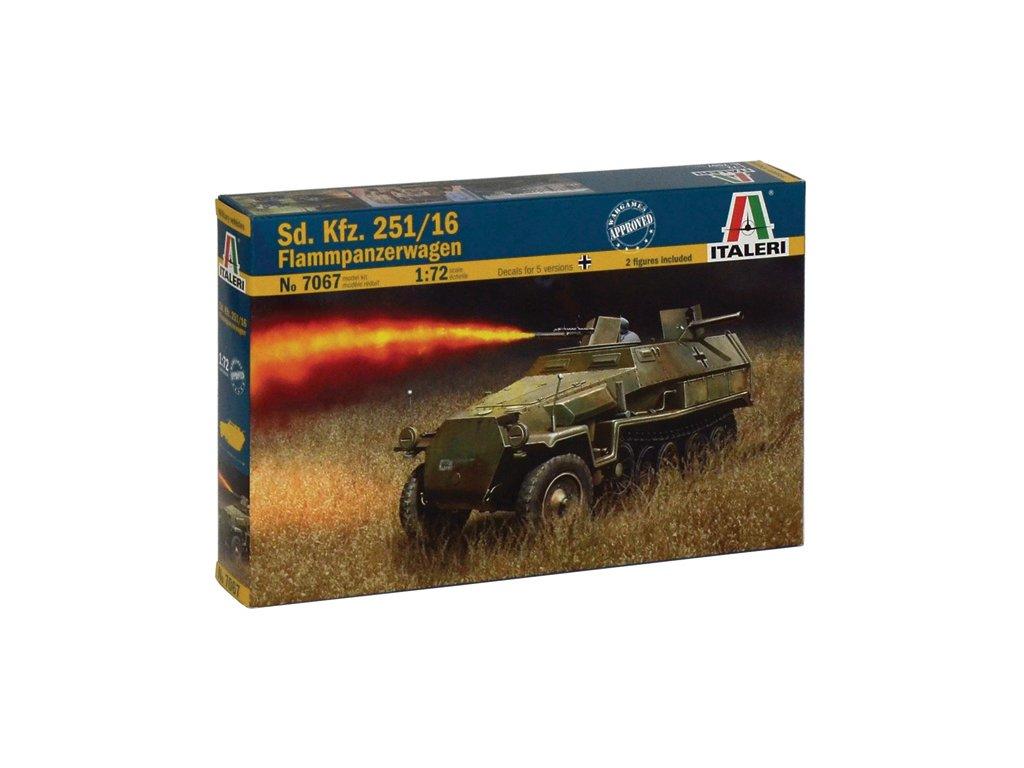 2006 model kit military italeri 7067 sd kfz 251 16 flammpanzerwagen 1 72