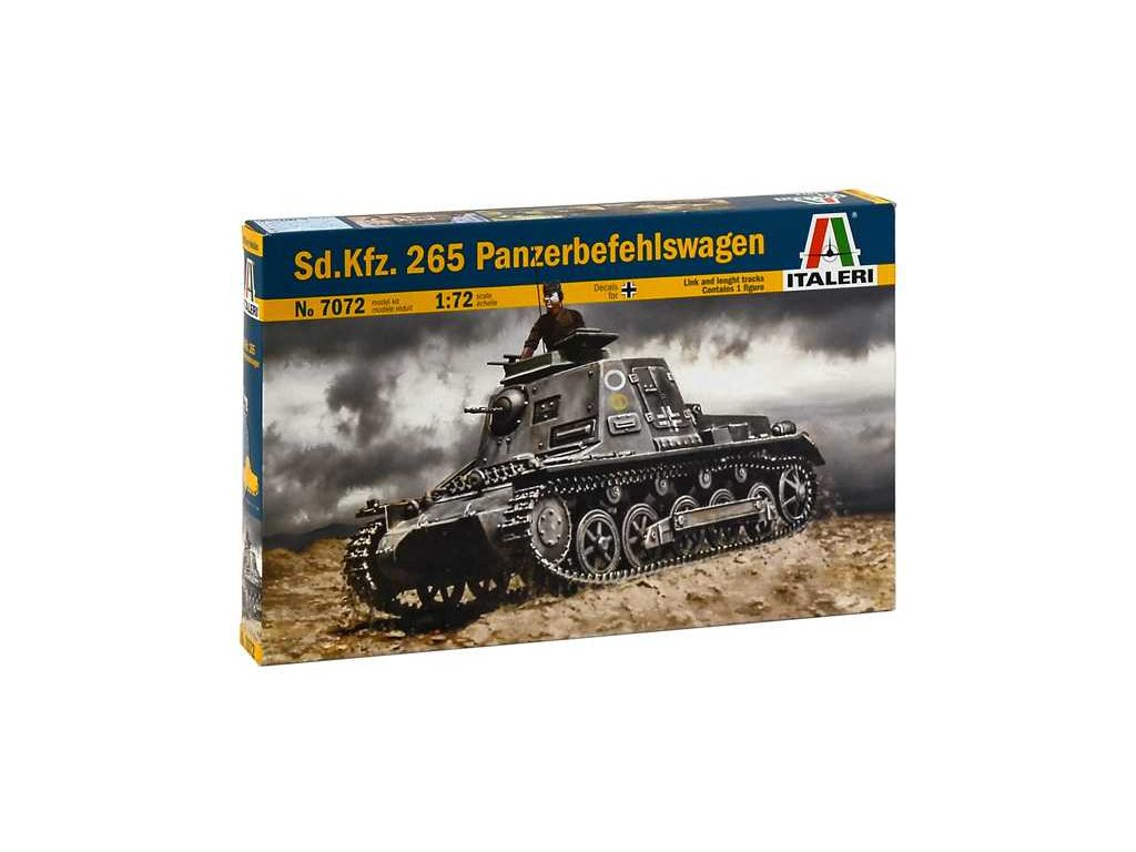 2012 model kit military italeri 7072 sd kfz 265 panzerbefehlswagen 1 72