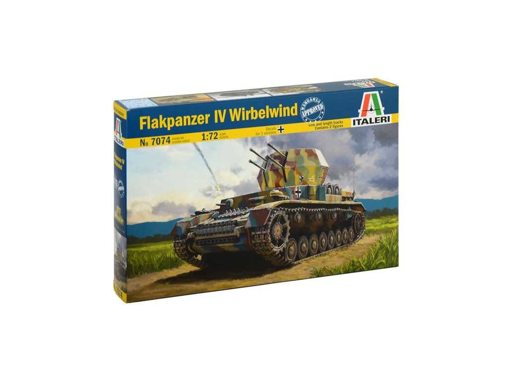 2021 model kit military italeri 7074 flakpanzer iv wirbelwind 1 72