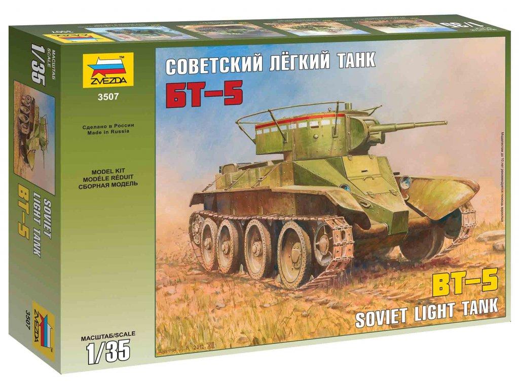 203 model kit tank zvezda 3507 soviet tank bt 5 1 35