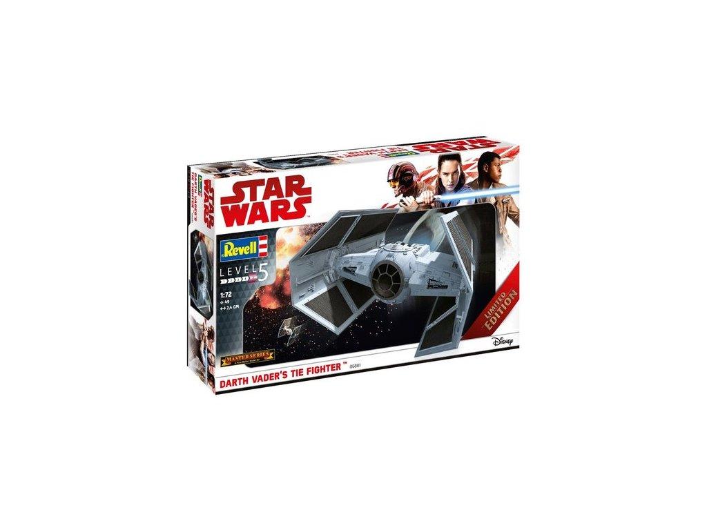 2057 plastovy model sw limited edition 06881 darth vader s tie fighter master series 1 72