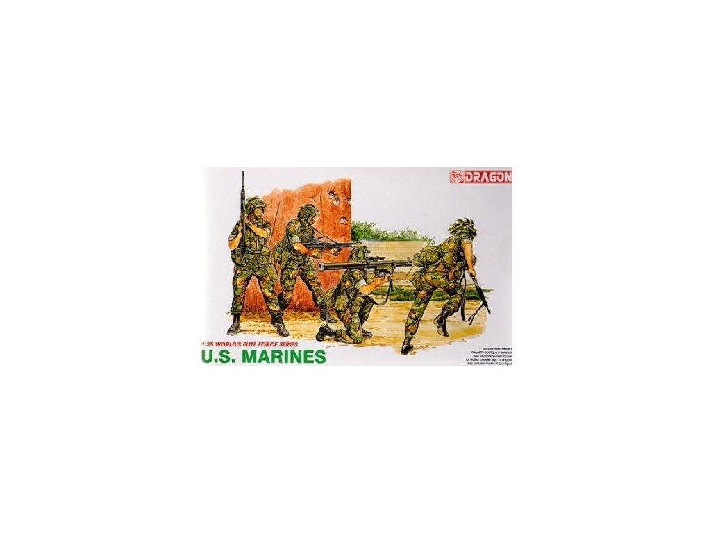 2075 model kit figurky dragon 3007 u s marines 1 35