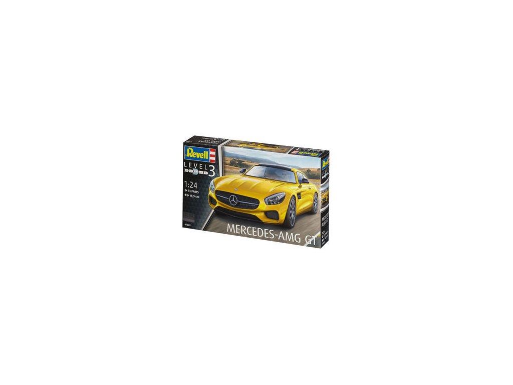 2084 plastovy model auto revell 07028 mercedes amg gt 1 24