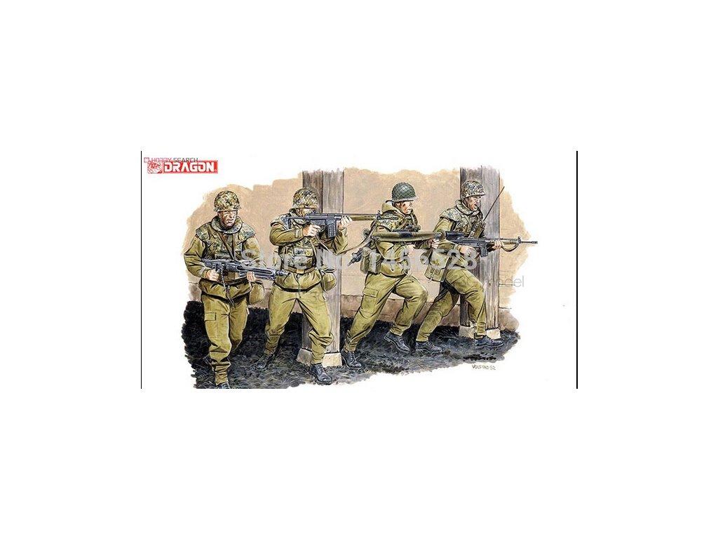 2087 model kit figurky dragon 3021 german paratroopers 1 35