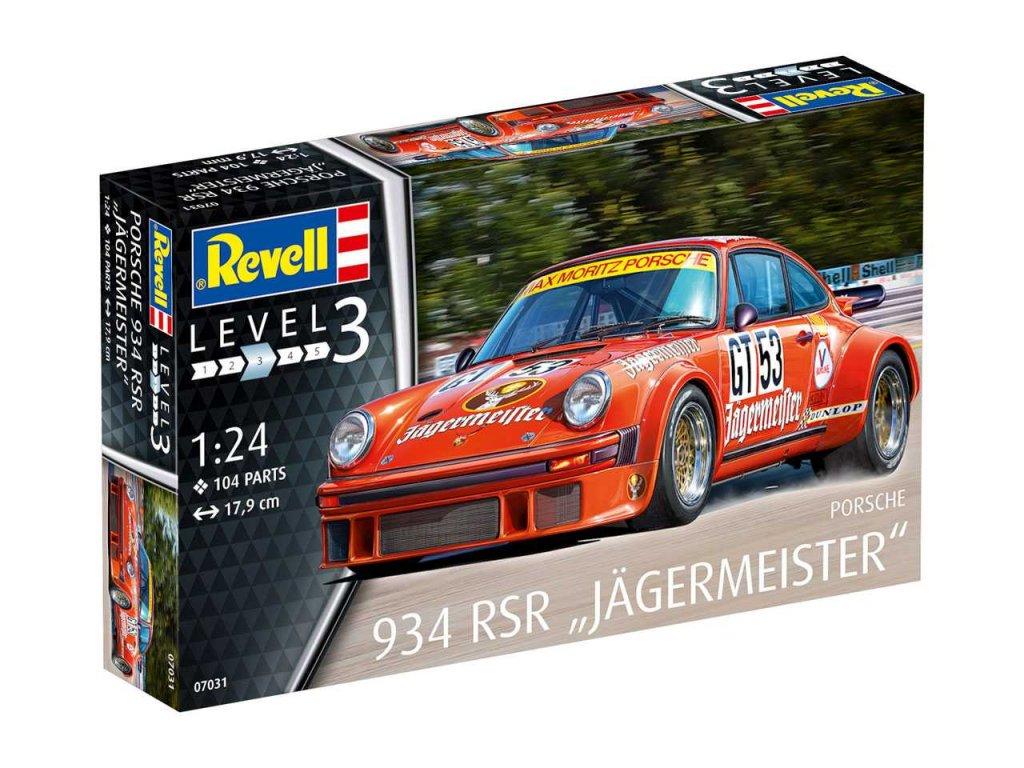 2114 plastovy model auto revell 07031 porsche 934 rsr jagermeister 1 24