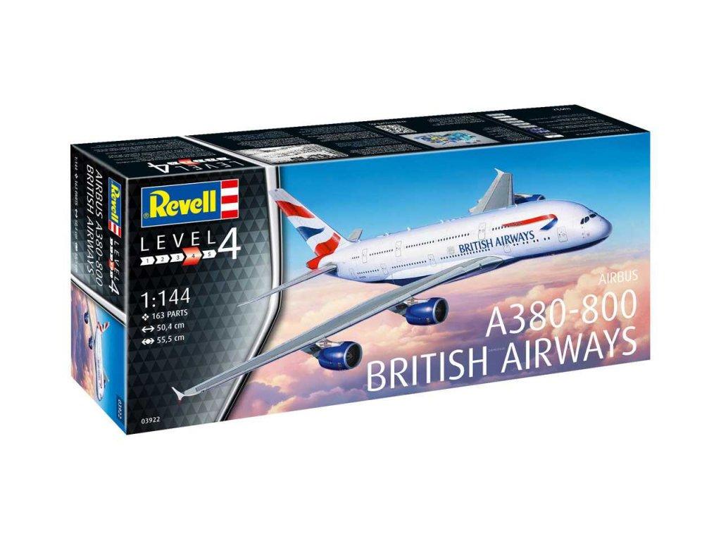 215 plastovy model lietadlo revell 03922 a380 800 british airways 1 144