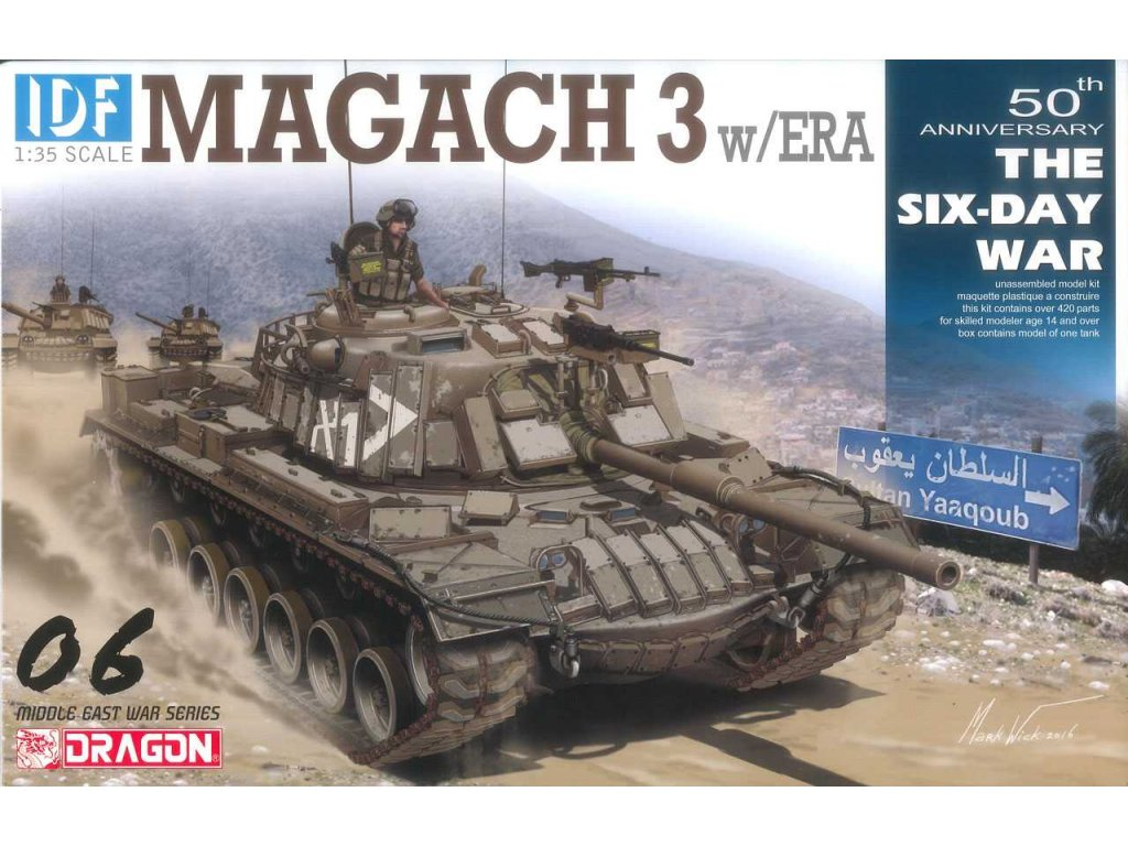 2156 model kit tank dragon 3578 idf magach 3 w era smart kit 1 35