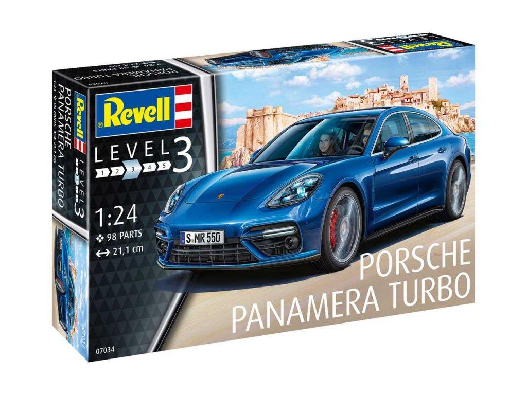 2165 plastovy model auto revell 07034 porsche panamera turbo 1 24