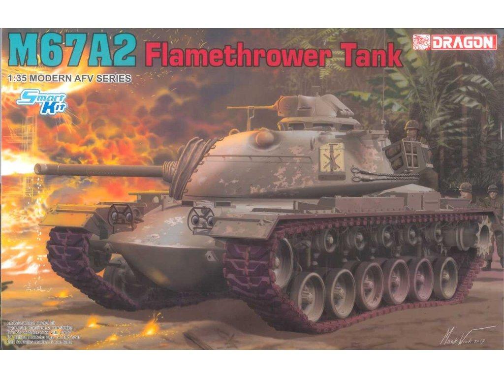 2171 model kit tank dragon 3584 m67a2 flamethrower tank 1 35