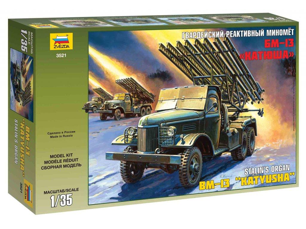 218 model kit military zvezda 3521 bm 13 katyusha 1 35