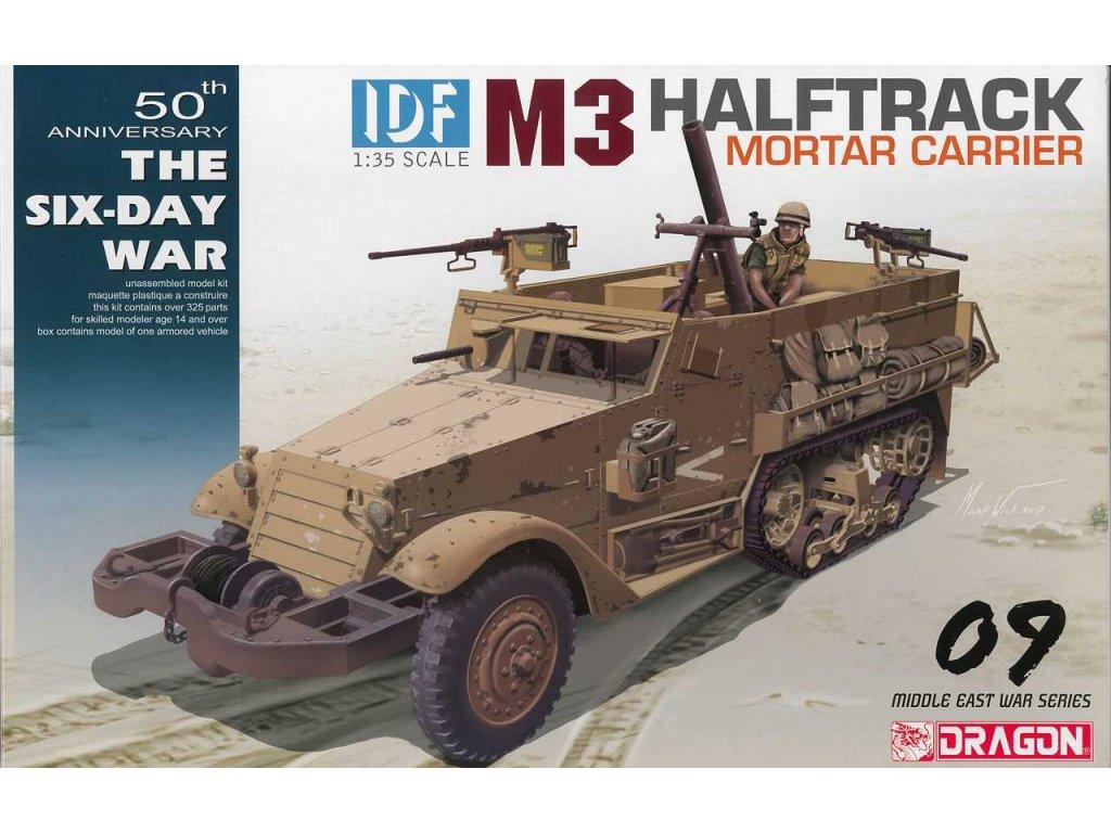 2180 model kit military dragon 3597 idf m3 halftrack mortar carrier 1 35