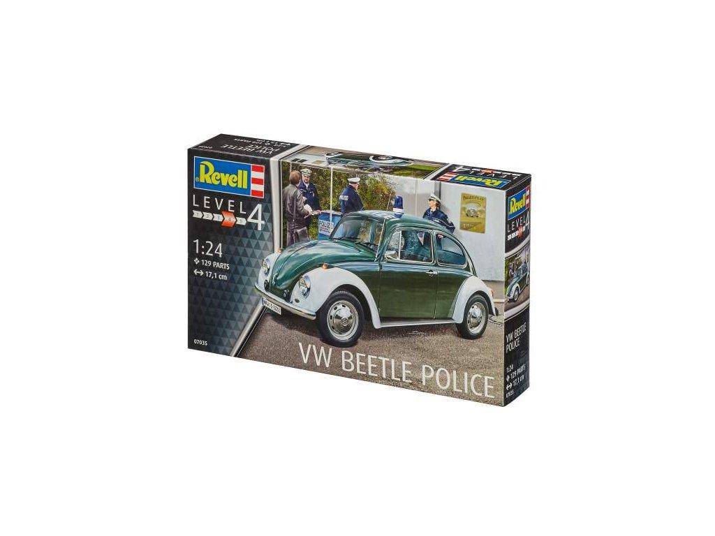 2195 plastovy model auto revell 07035 vw beetle police 1 24
