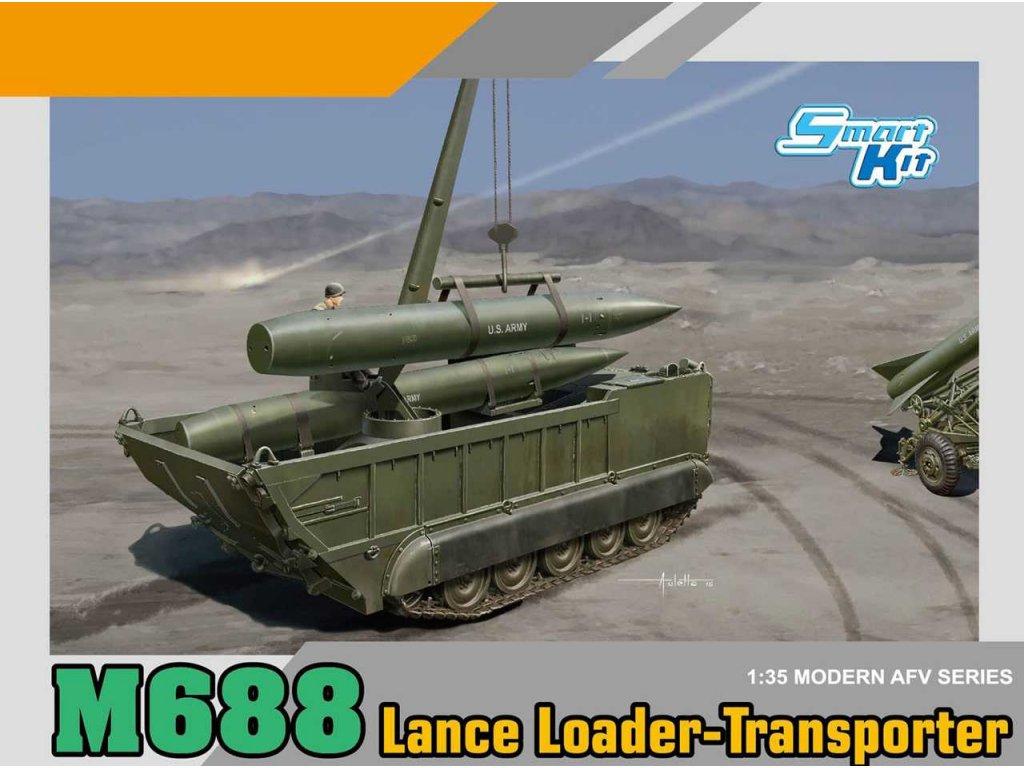 2201 model kit military dragon 3607 m688 lance loader transporter 1 35