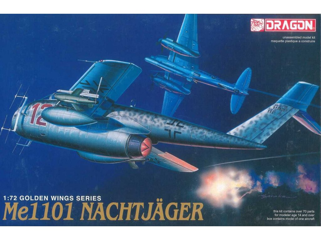 2219 model kit lietadlo dragon 5014 me1101 nachtjager 1 72