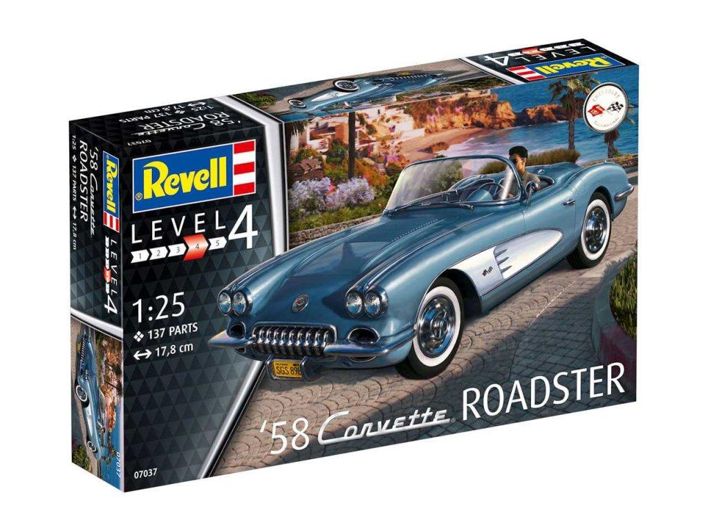 2231 plastovy model auto revell 07037 58 corvette roadster 1 25