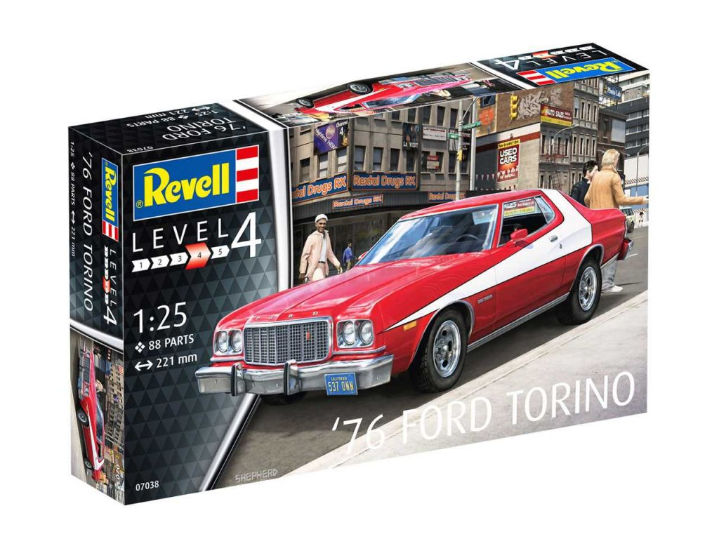 2243 plastovy model auto revell 07038 76 ford torino 1 25