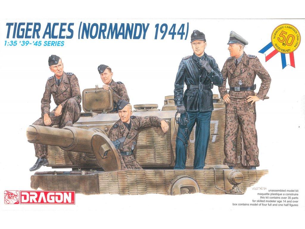 2252 model kit figurky dragon 6028 tiger aces normandy 1944 1 35