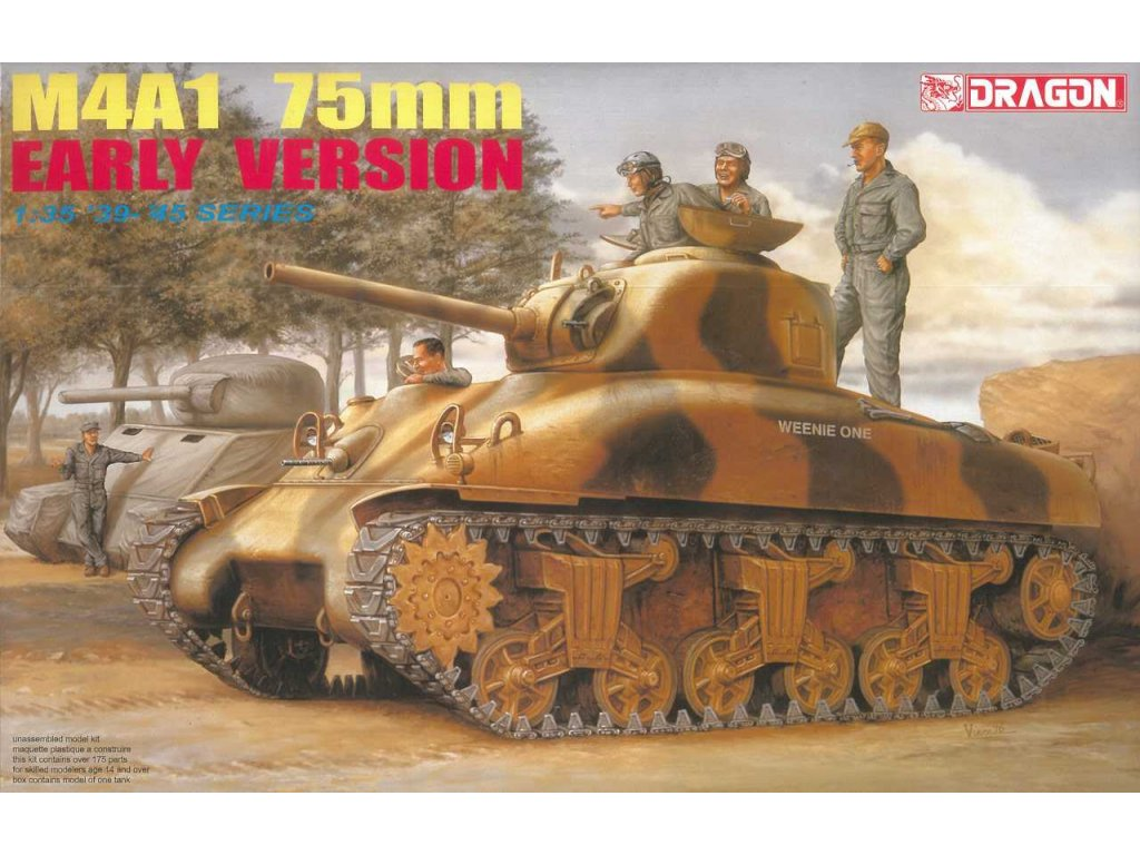 2264 model kit military dragon 6048 m4a1 75mm early version 1 35
