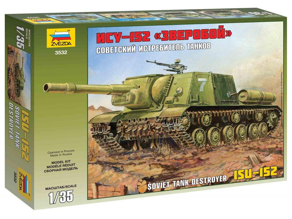 227 model kit military zvezda 3532 isu 152 soviet self propelled gun 1 35
