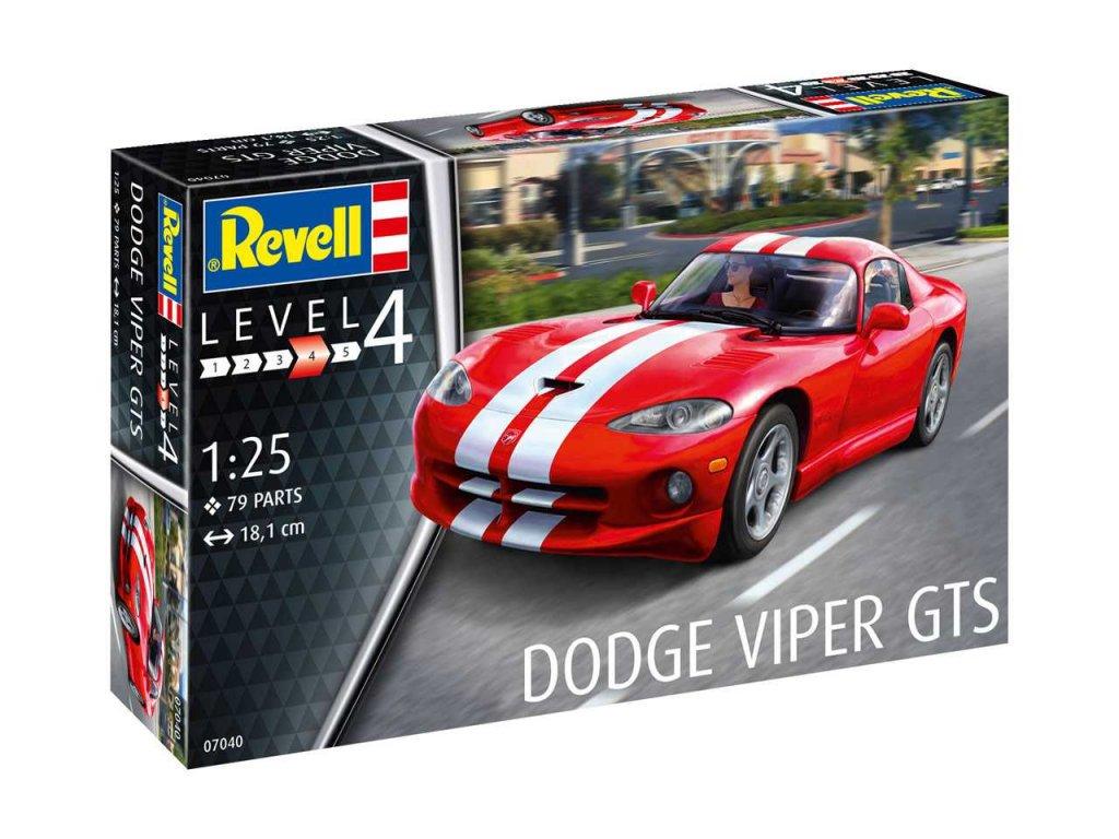 2273 plastovy model auto revell 07040 dodge viper gts 1 25