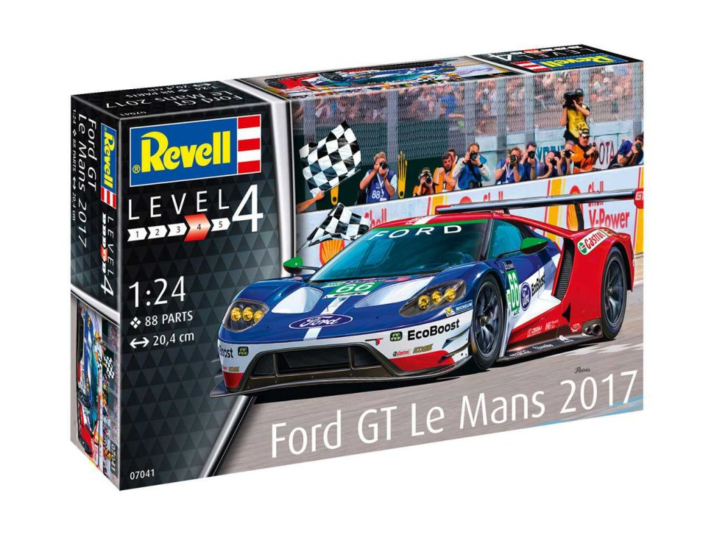 2285 plastovy model auto revell 07041 ford gt le mans 2017 1 24