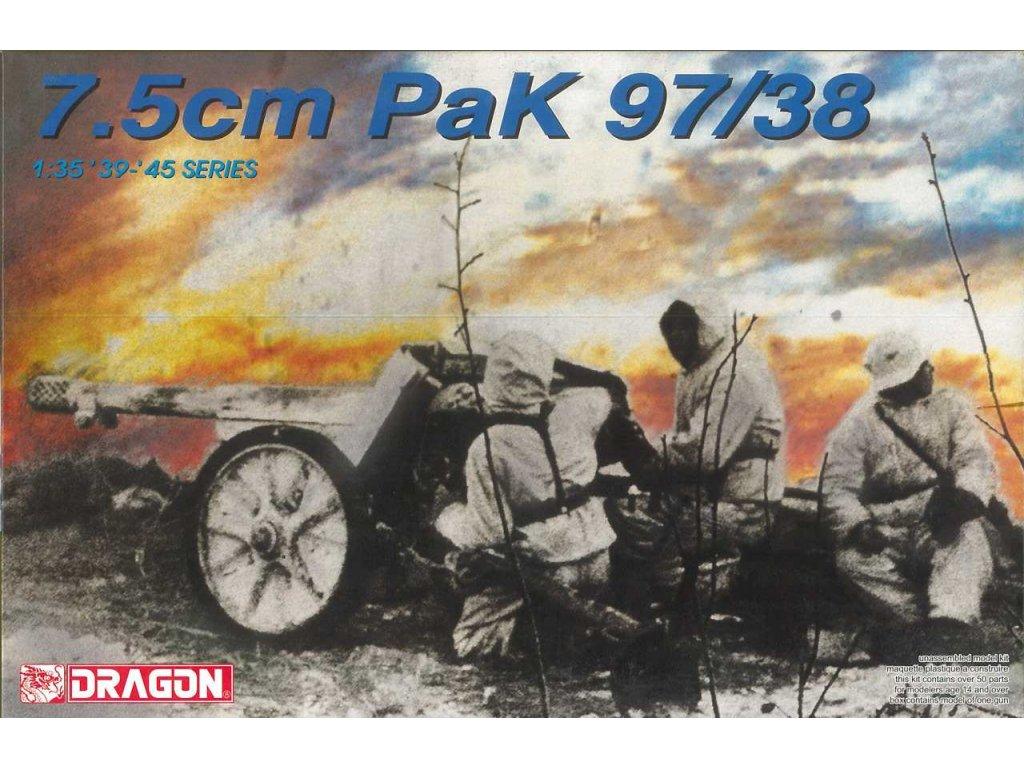 2297 model kit military dragon 6123 7 5cm pak 97 38 1 35