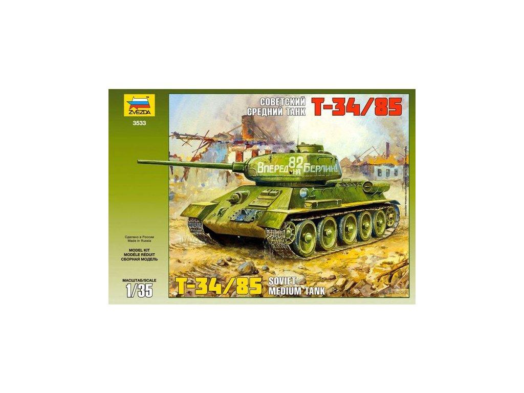 230 model kit tank zvezda 3533 t 34 85 soviet tank 1 35