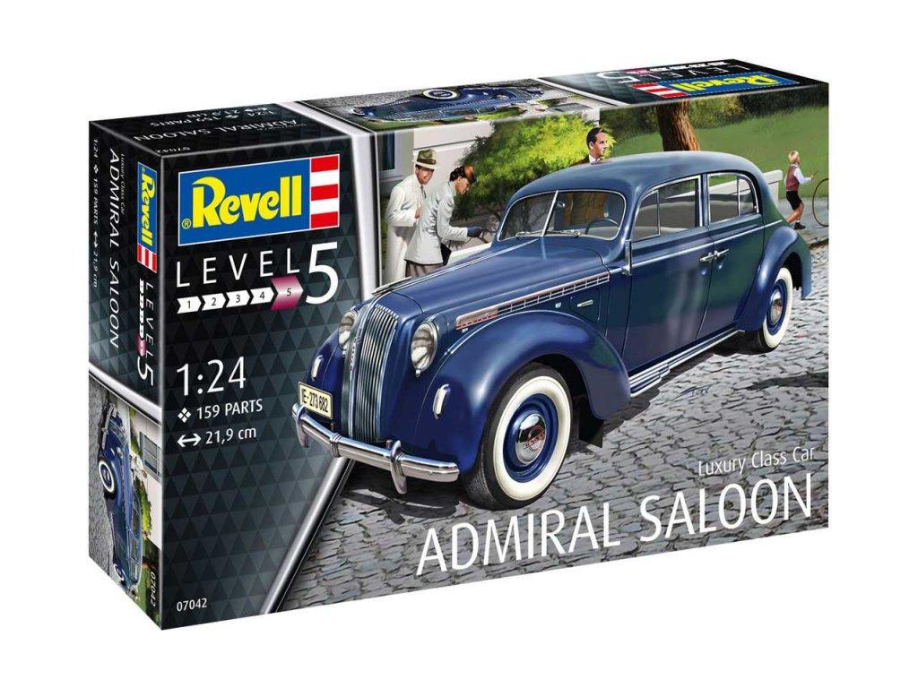 2300 plastovy model auto revell 07042 luxury class car admiral saloon 1 24