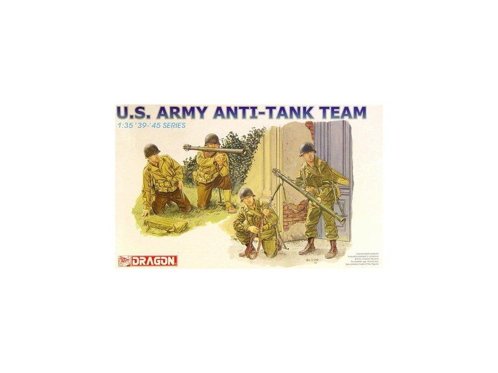 2312 model kit figurky dragon 6149 us army anti tank team 1 35