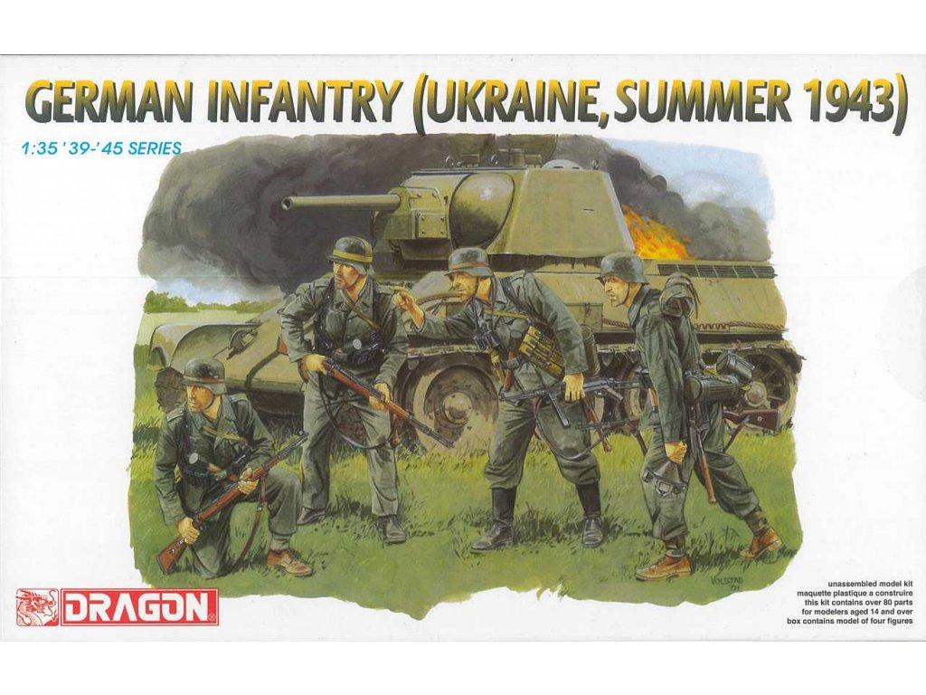 2318 model kit figurky dragon 6153 german infantry ukraine summer 1943 1 35