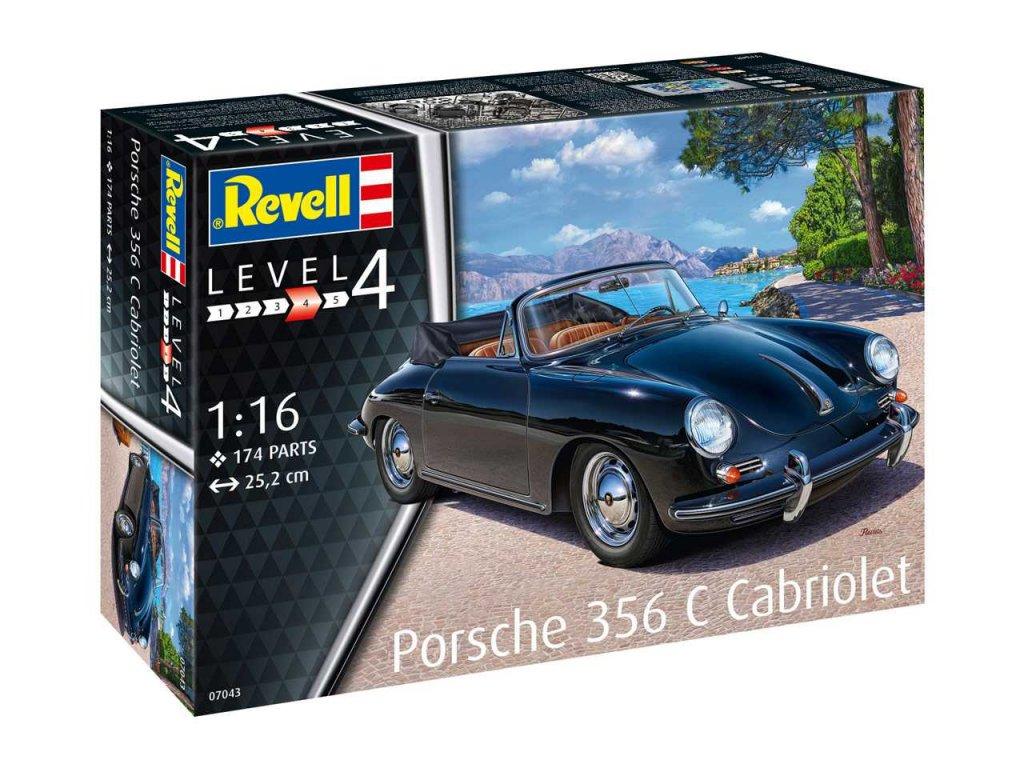 2324 plastovy model auto revell 07043 porsche 356 cabriolet 1 16
