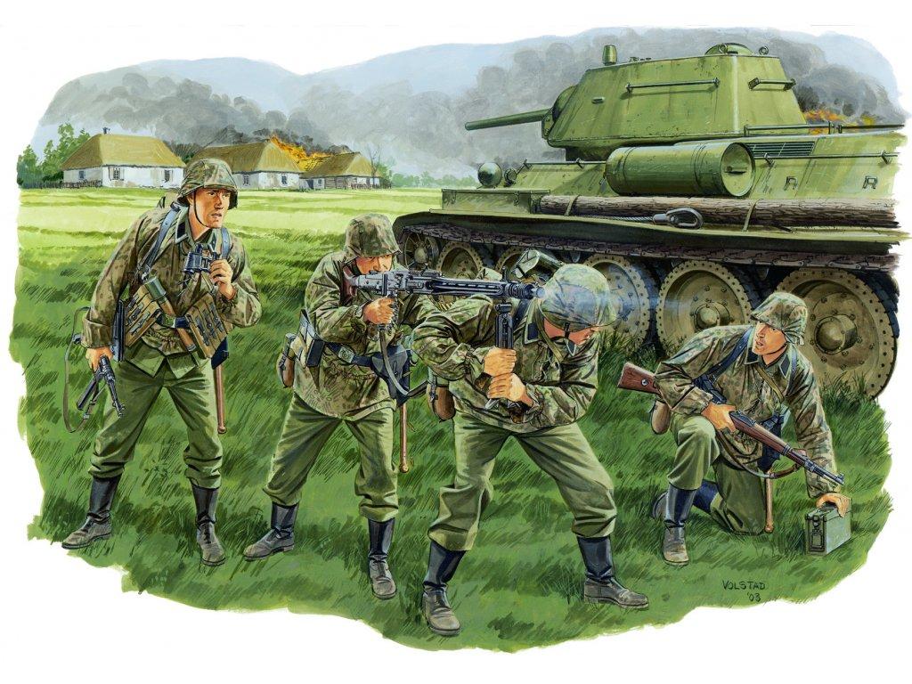 2327 model kit figurky dragon 6159 panzergrenadier lah division kursk 1943 1 35